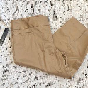 Tan Cropped Pants